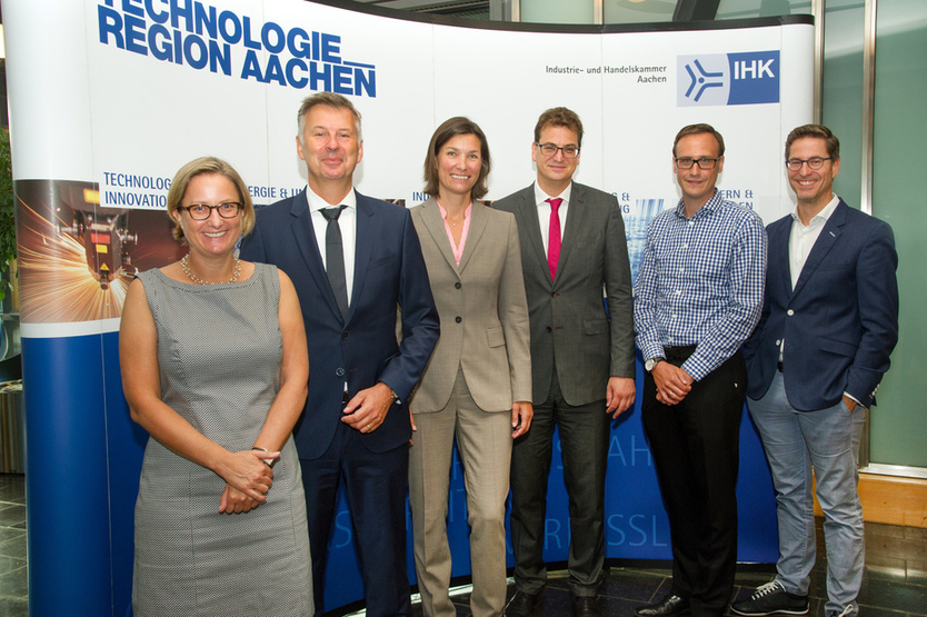 "Die Referenten des IHK-Symposiums ""Digital Leadership"" in Aachen"