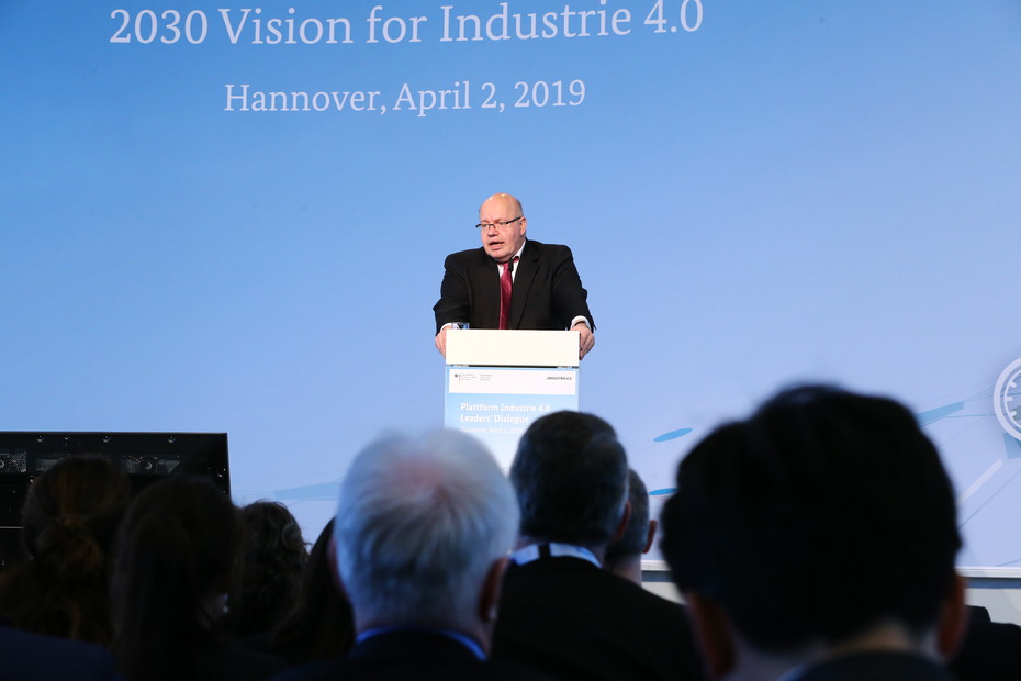 Bundesminister Altmaier beim Leaders' Dialogue der Hannover Messe 2019