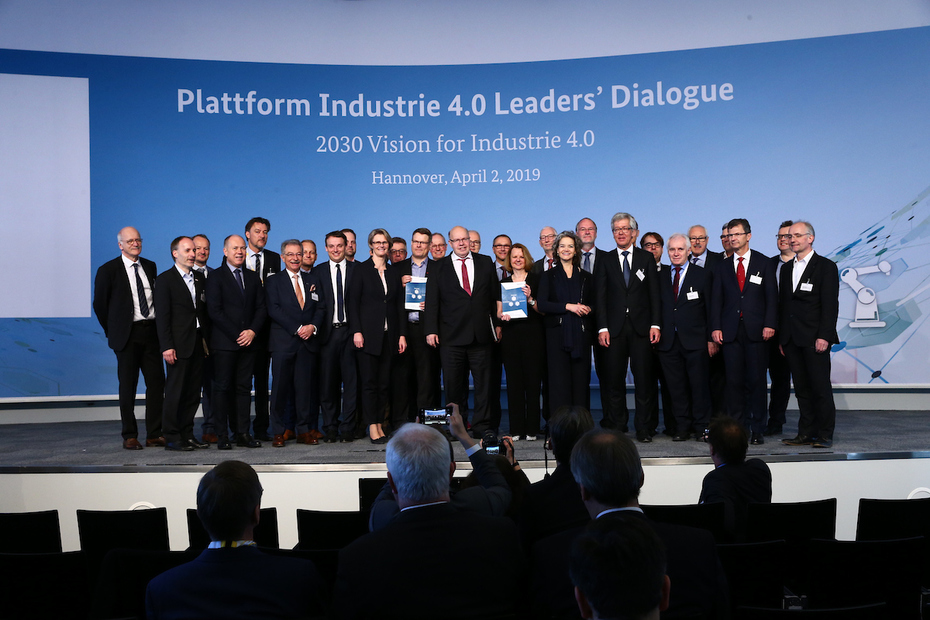 Gruppenbild beim Leaders' Dialogue der Hannover Messe 2019