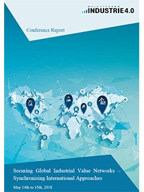 "Cover des Reports zur Konferenz ""Securing Global Industrial Value Networks – synchronizing international approaches"""