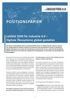 "Cover der Publikation ""Positionspapier Leitbild"" (DE)"
