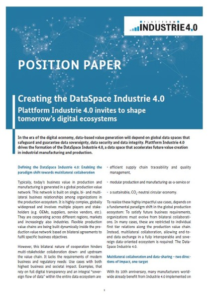 PositionPaper-DataSpaces