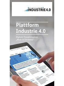 Cover des Flyers der Plattform Industrie 4.0
