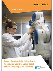 "Cover der Publikation ""Exemplification of the Industrie 4.0 Application Scenario Value-Based Service following IIRA Structure"""