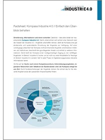 "Cover des Factsheets ""Kompass Industrie 4.0"""