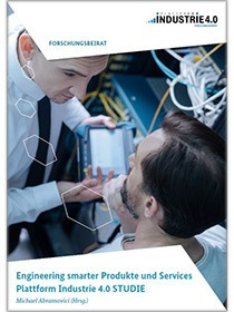 "Cover der Publikation ""Engineering smarter Produkte und Services Plattform Industrie 4.0"""