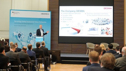 Christian Decker, CEO DESMA GmbH presenting is use case