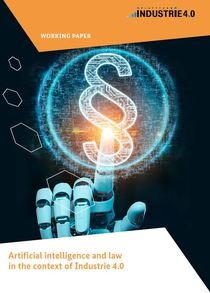 "Cover of the publication ""Artificial intelligence and law in the context of Industrie 4.0"""