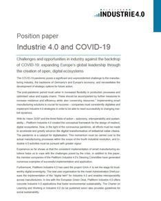 Position paper Industrie 4.0 and COVID-19