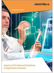 "Cover of the publication ""Aspects of the Research Roadmap in Application Scenarios"""