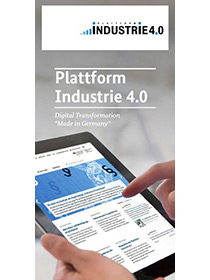 Cover of the flyer of the Plattform Industrie 4.0