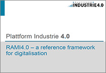 "Cover of the publication ""Reference Architectural Model Industrie 4.0 (RAMI4.0) - An Introduction"""