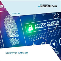 "Cover of the publication ""Security in RAMI4.0"""