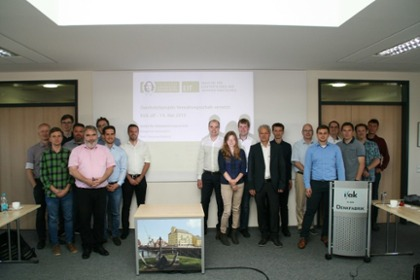 The kick-off event was very well-attended: the project team of the Asset Administration Shell Networked project at the University of Magdeburg.