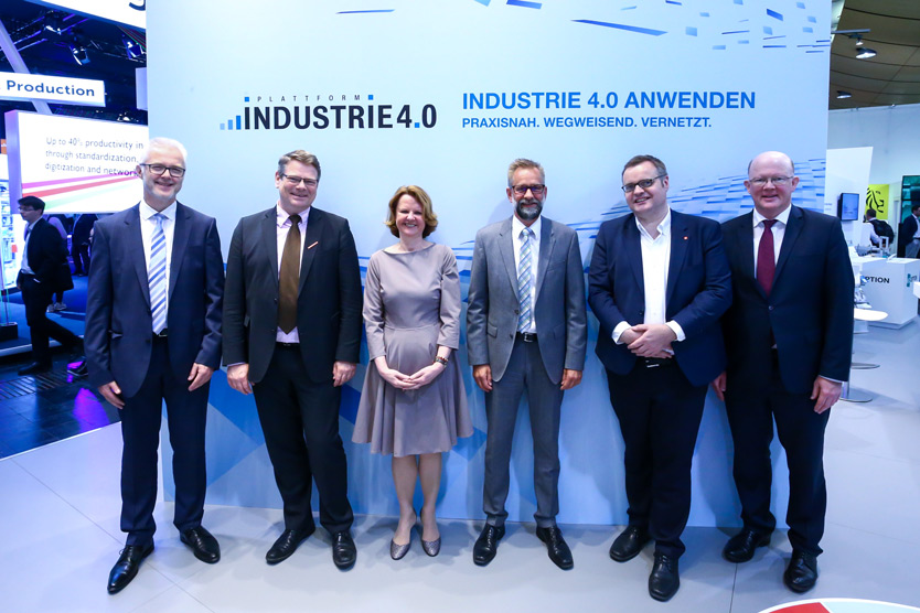 Heads of the working groups at Hannover Messe 2018