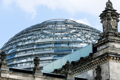 Cupola of the German Bundestag in Berlin