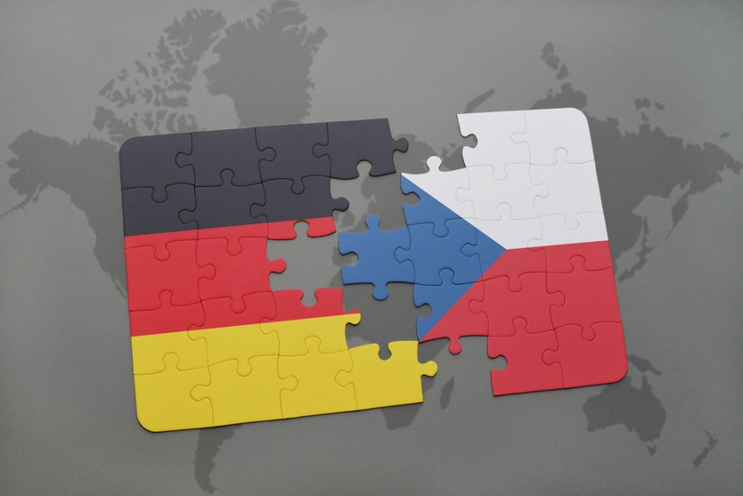 Puzzle pieces the Czech Republic and Germany