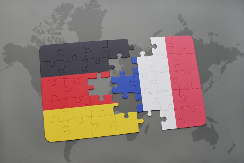 Puzzle pieces France and Germany