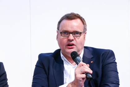 "Martin Kamp, Head of the Working Group ""Work, Training and Further Education"" at Hannover Messe 2018"
