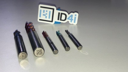 Solid carbide milling cutters from Hofmann & Vratny with ID4i IDs as data matrix code