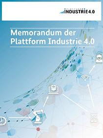 "Publikationscover ""Memorandum der Plattform Industrie 4.0"""
